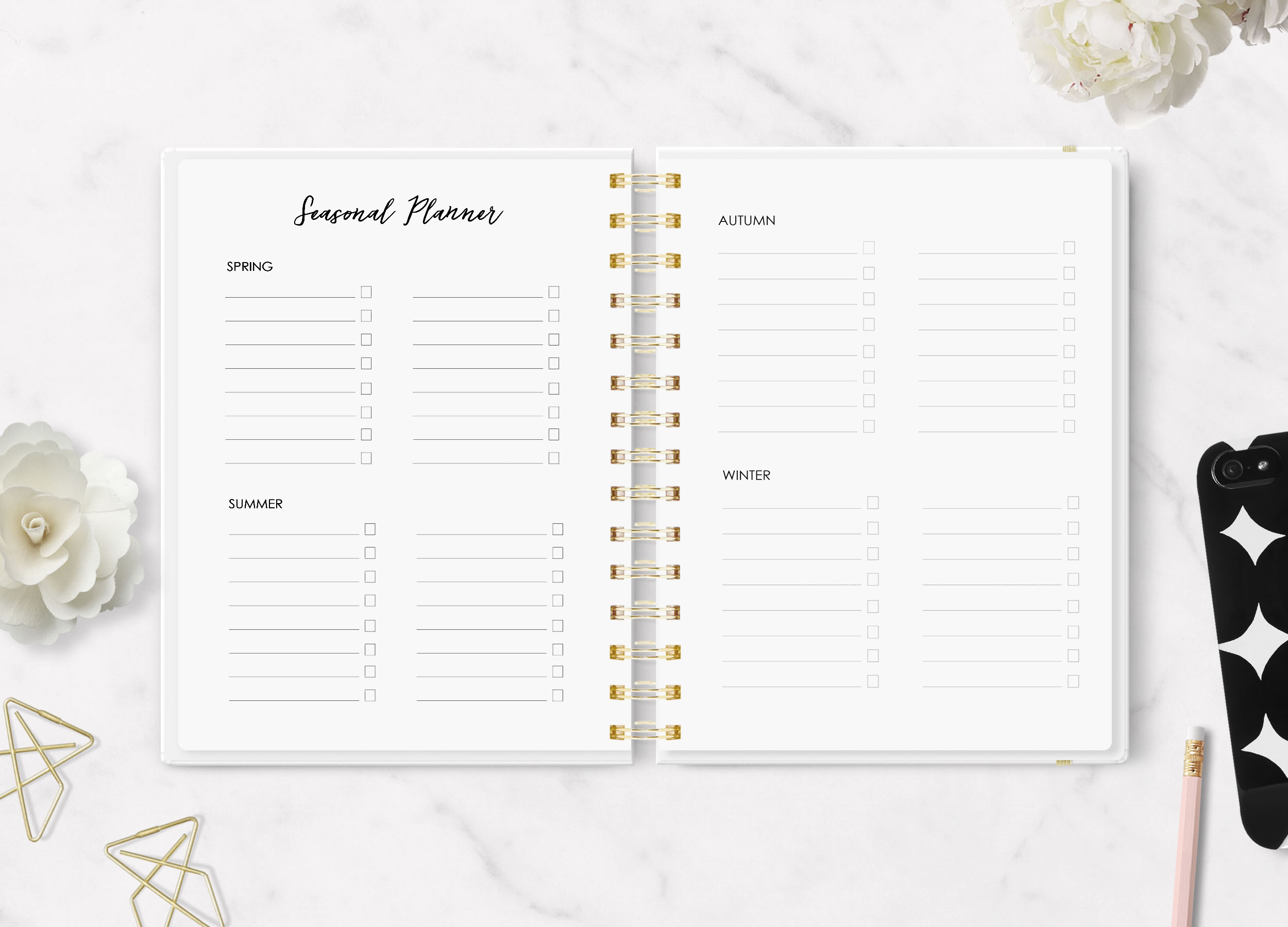 Seasonal planning in the Happy Creative Life Planner System