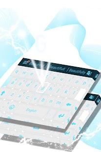 Bílá klávesnice zdarma - náhled