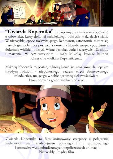 Tył ulotki filmu 'Gwiazda Kopernika'