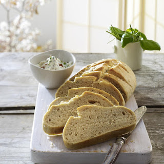 Rosemary Focaccia with Herbed Cream Cheese.