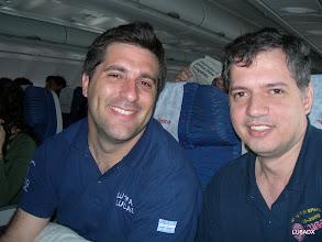 Photo: Lucas LU1FAM y Diego LU8ADX camino a la primer parada, Bogota, Colombia.
