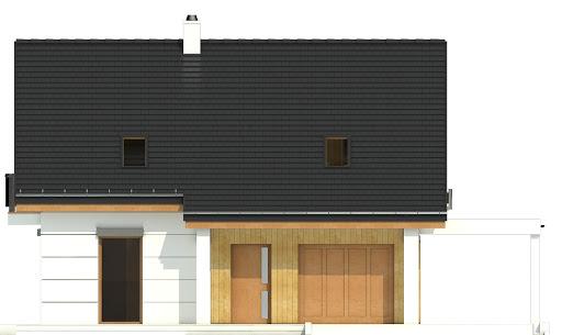 Nowinka VI z garażem i wiatą A1 - Elewacja przednia