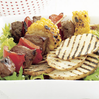 Beef and Corn Skewers