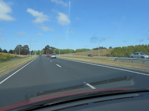 Photo: A punto de llegar a Christchurch y ¡dos carriles por sentido!