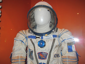 Photo: Close-up of the Sokol suit used during launch, showing the name tag of the owner :)