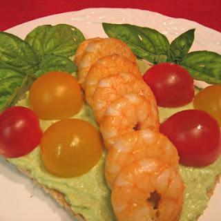 Shrimp on Avocado Cream (on Toast)