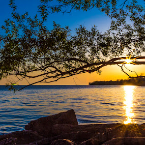 Webster by the Pier by John Witt - Landscapes Sunsets & Sunrises ( lake ontario, shoreline, lake, webster, sunrise,  )