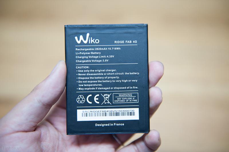 Pin chuẩn của Wiko