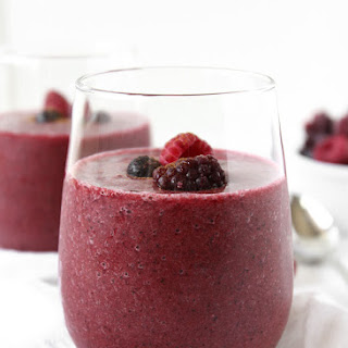 Cinnamon Pear Berry Coconut Water Smoothie.