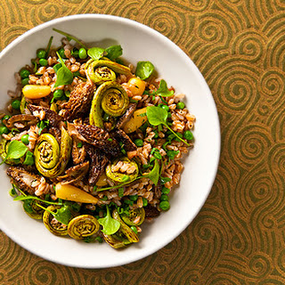 Salad of Morels, Fiddleheads, Ramps and Farro