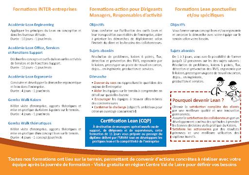 Brochure Formations Relais Lean Centre de l'Institut Lean France page 2