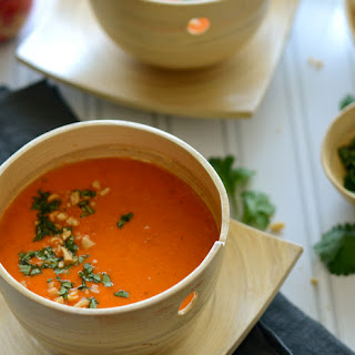 Coconut Curried Red Pepper Soup