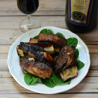 Wine Braised Slow Cooker Beef Short Ribs.