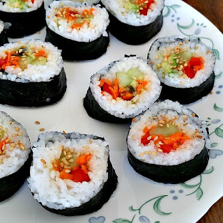 Homemade Vegan Sushi Rolls