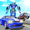 US Police Muscle Car Transform Bike Robot Games icon
