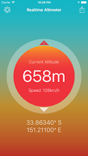 Realtime Altimeter screenshot