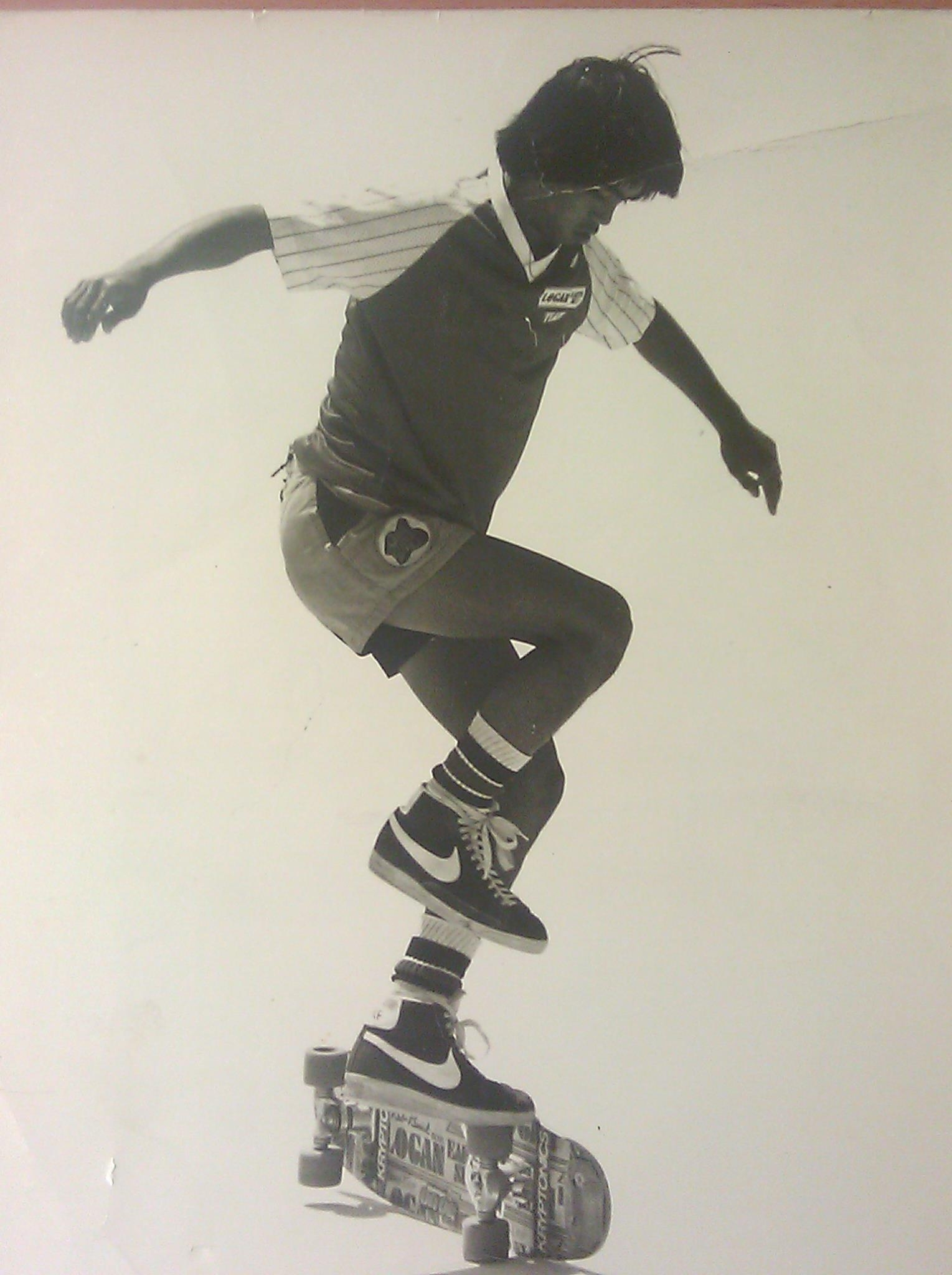 Photo: Eddie using his freestyle skills