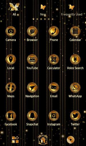 Gold Wallpaper Gothic Butterflies Theme 1.0.0 Windows u7528 3