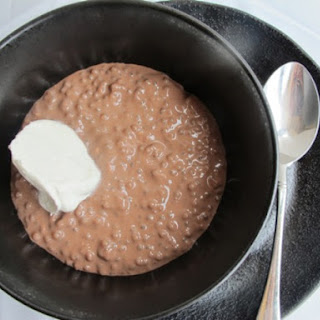 Creamy Chocolate Tapioca Pudding.
