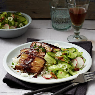 Roasted Pork Belly with Peanut Salad