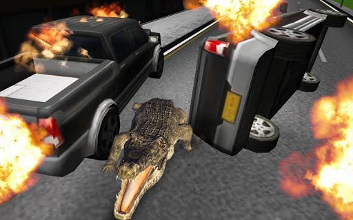 模擬:野生鱷魚
