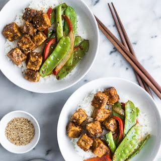Jamaican Jerk Style Tofu Stir Fry.