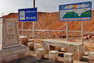 Photo: Auf 0 Meter NN im Jordangraben, dem nördlichsten Teil des  Großen Afrikanischen Grabenbruchs.