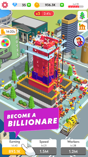 Idle Construction 3D Android App Screenshot