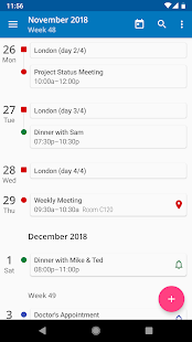 aCalendar - Android Calendar Screenshot