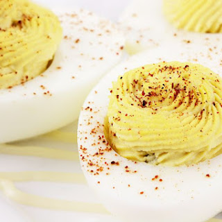 Backyard Chicken Deviled Eggs