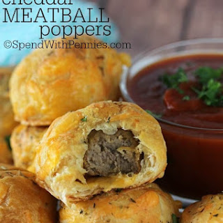 Cheddar Meatball Poppers.