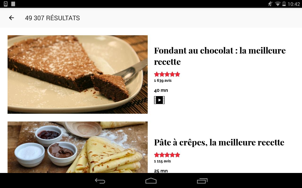 cuisine : 45 000 recettes - google play store revenue & download