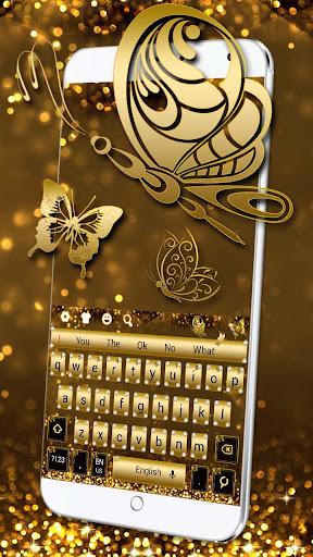Glitter Diamond Gold Keyboard screenshots 1