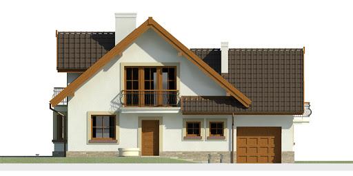Dom przy Cyprysowej 14 - Elewacja przednia