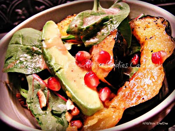 Holiday Salad With Pomegranate Ginger Vinaigrette