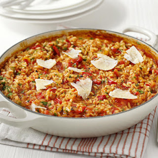 Baked Risotto with Roasted Red Pepper.
