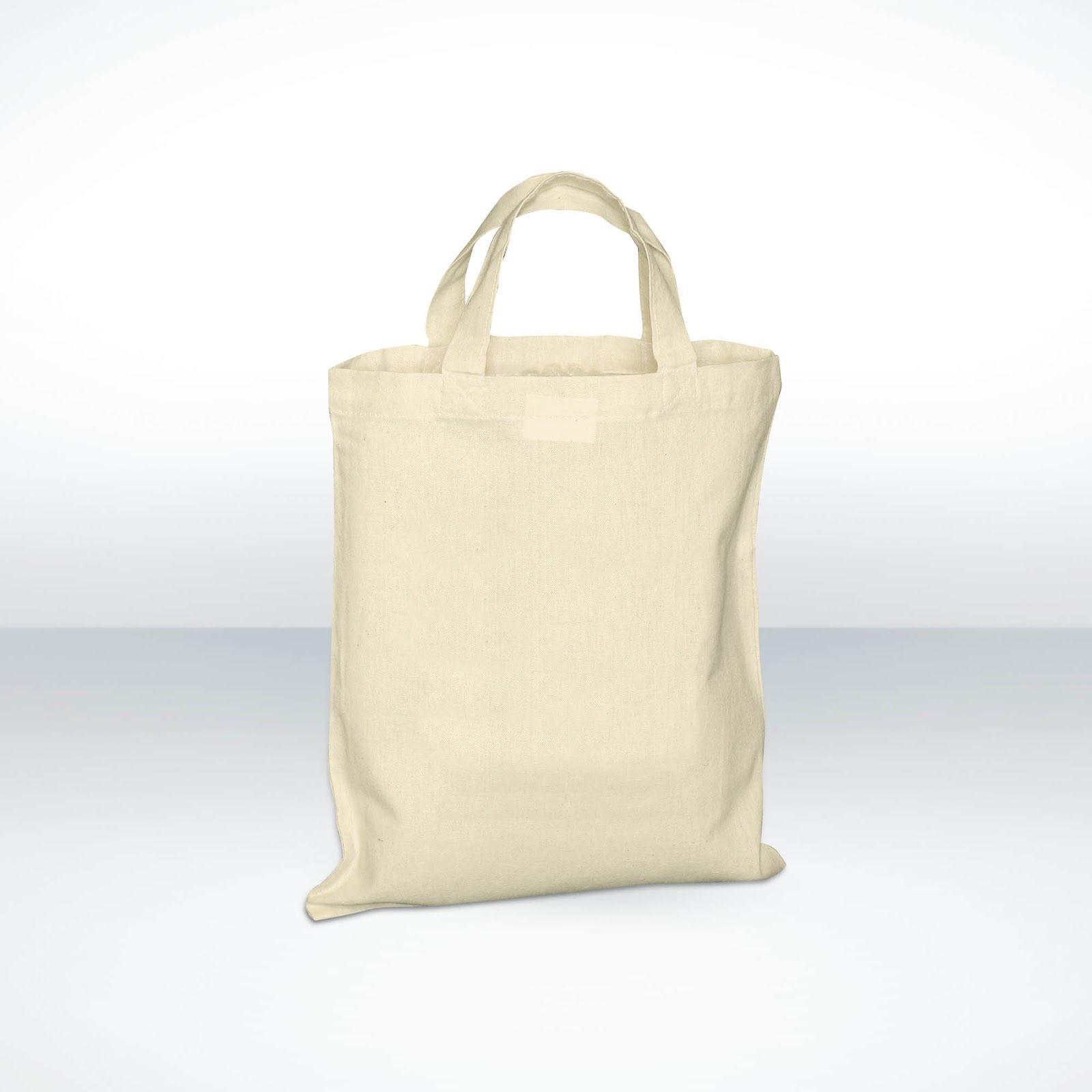 Custom Printed Small Cotton Shopper Bags