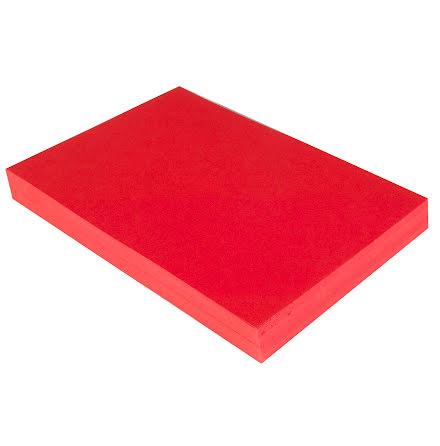 Tonpapper A4 110g röd 250/fp