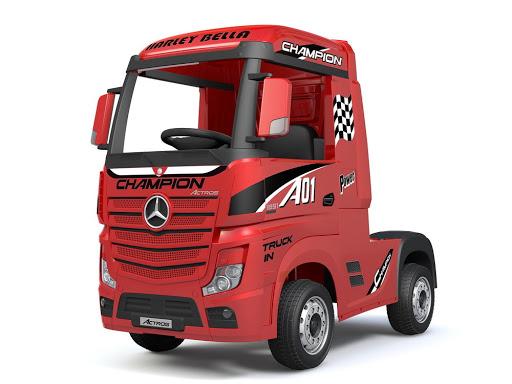 Детский электромобиль MercedesBenz Actros лицензионная модель цвет красный глянец Barty купить