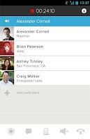 Screenshot of UberConference - Conferencing