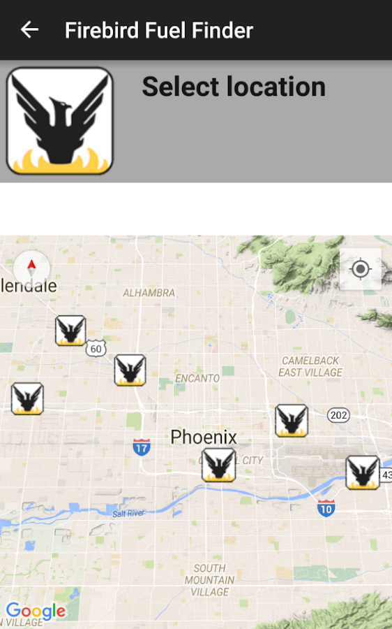 Firebird Fuel Finder- screenshot