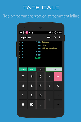 TapeCalc - screenshot