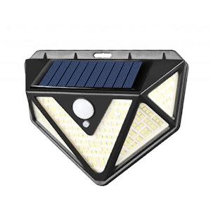 Lampa 166 LED cu panou solar si senzor de miscare