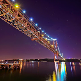 Light on the bridge... by Rui Catarino - Buildings & Architecture Bridges & Suspended Structures ( with pwc bridges )
