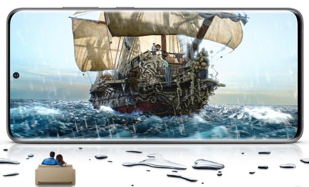 O Galaxy S20 tem tela Quad HD+ com 120 Hz de taxa de atualização (Imagem: Divulgação/Samsung)