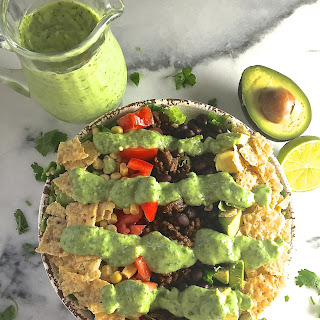 Taco Salad with Avocado Lime Dressing