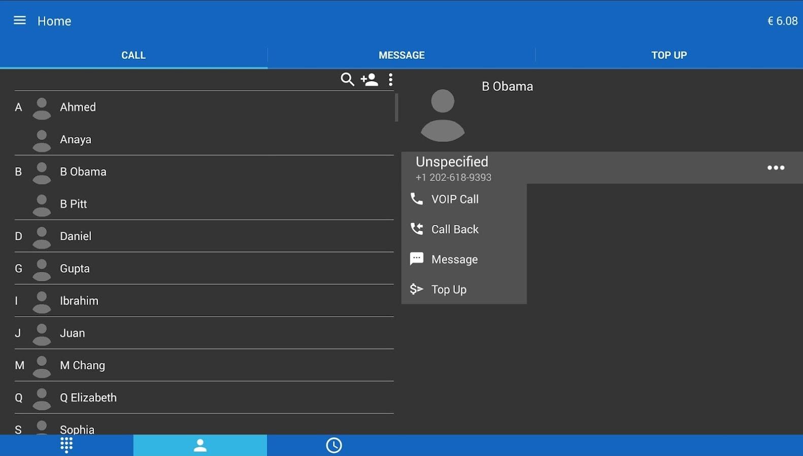 MobileVOIP Cheap Voip Calls- screenshot