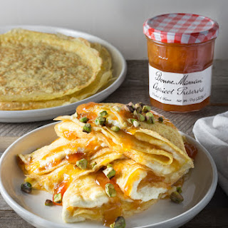 Whipped Mascarpone and Apricot Crepes Recipe