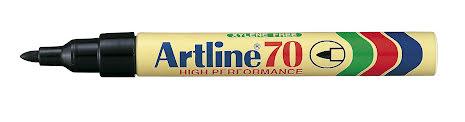 Märkpenna Artline 70 svart