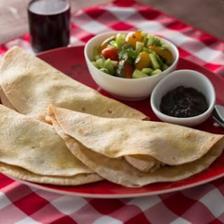 Brie Quesadilla with Jalapeno Raspberry Jam
